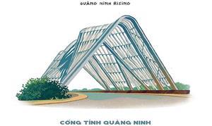 Ngắm những công trình tiêu biểu của Quảng Ninh qua những hình vẽ độc đáo