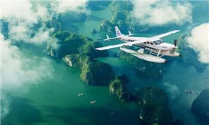 Thưởng ngoạn cảnh quan Vịnh Hạ Long bằng thủy phi cơ